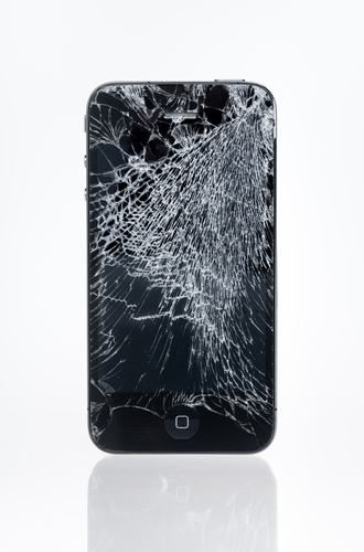 Apple iPhone 4 with crashed screen